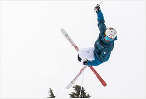A picture of a skier