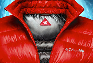 A red, super-warm, TurboDown jacket.